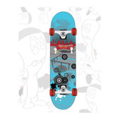 Skateboard cartoon — Stock Vector