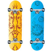 Skateboard designsymbol — Stock Vector