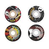 Skateboard wheels — Stock Vector