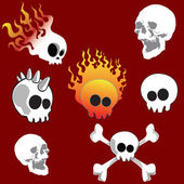 Skull set — Stock Vector