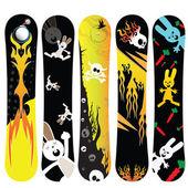Snowboard bunny — Stock Vector