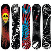 Snowboard designs new — Stock Vector