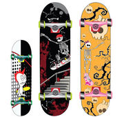 Skateboard design — Stockvektor