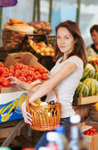 The girl in the market — Stock Photo