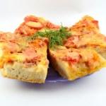 Постер, плакат: Pizza pizza with processed cheese