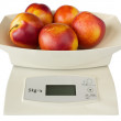 Stock Photo: Scales with Peaches