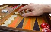 Playing Backgammon — Стоковое фото