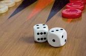 双陆棋骰子 — 图库照片