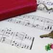 Handwritten Music — Stockfoto