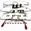 Glasses & Eye Chart — Stock Photo