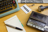 1980s Journalist's Desk — Stock Photo