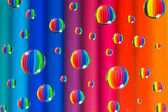 Color drops — Stock Photo