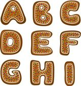 Gingerbread alphabet 1 — Stock Photo