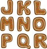 Gingerbread alphabet 2 — Stock Photo