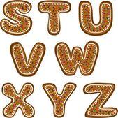 Gingerbread alphabet 3 — Stock Photo