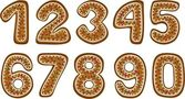 Gingerbread numbers — Stock Photo