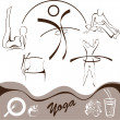 Royalty-Free Stock Vector Image: Yoga,  set  icon, logos vector