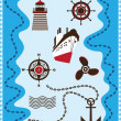 Marine, Sailing and Sea Icons, Vector Icon Set — Stock Vector #11394633