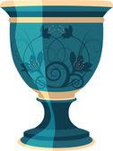 Flowerpot, flower vase vector illustration — Stock Vector