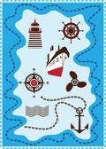 Marine, Sailing and Sea Icons, Vector Icon Set — Stock Vector