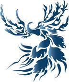 Stylized fantasy bird — Stock Vector