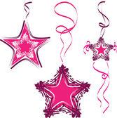 装飾的な 3 つ星、ペンダント — ストックベクタ