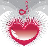 Sfondo cuore, san valentino — Vettoriale Stock