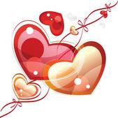 Fond du coeur, illustration vectorielle — Vecteur