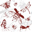 Seamless background insects — Stock Vector