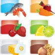Set of food - vector icons — Stock Vector