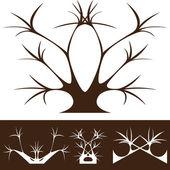 ツリーの装飾 — ストックベクタ