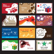 Set of business cards on different topics - ベクター素材ストック