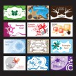 Set of business cards on different  topics — Stock Vector
