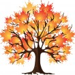 Stock Vector: Art autumn tree. Maple
