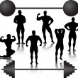 Stock Vector: Weightlifting silhouette