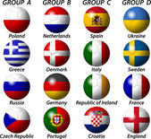 UEFA Euro 2012 Group — Stock Vector
