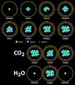 Chemical covalent bonds black — Stock Vector