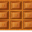 Wooden cabinet for small items — Stock Vector