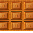 Royalty-Free Stock Vector Image: Wooden cabinet for small items