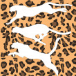 Stock Vector: Cheetah