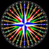 Tarjeta compass negro — Vector de stock