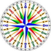 Compass card — Stock Vector