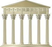 Corinthian capitol — Stock Vector