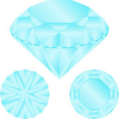 Diamond blue — Stock Vector