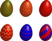 Easter eggs colorful — Stock Vector