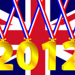 Royalty-Free Stock Vector Image: Olympic year with a British flag