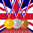 Olympic medals from the British flag — Stock Vector