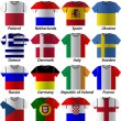 Euro 2012 shirt participating in groups — Stock Vector