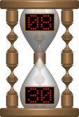 Hourglass digital — Stock Vector