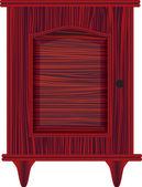 Dresser red — Stock Vector